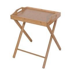 Wooden Folding Table TV Tray Dinner Table Desk/Side Table Po